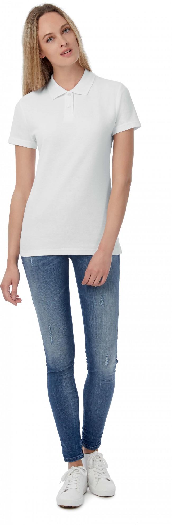 Polo femme manches courtes ID.001 PWI11 - White en vente chez Textile Direct