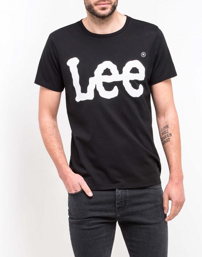 T-shirt homme logo LEE L62 - Black en vente chez Textile Direct