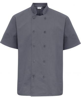 Veste de cuisine manches courtes PR656 - Steel