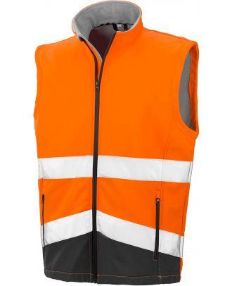 Gilet softshell haute visibilité R451X - Fluorescent Orange / Black