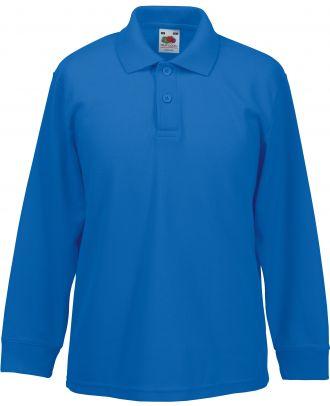 Polo enfant 65/35 manches longues SC63201 - Royal Blue