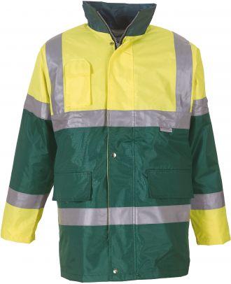 Veste imperméable haute visibilité YHVP303 - Hi Vis Yellow / Green