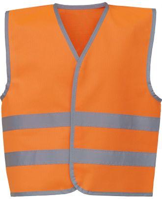Gilet enfant avec bordures et bandes réfléchissantes YHVW102CH - Hi Vis Orange