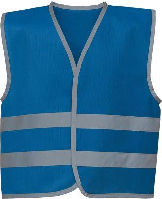 Gilet enfant avec bordures et bandes réfléchissantes YHVW102CH - Royal Blue