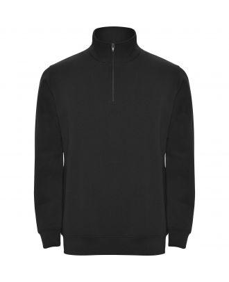 Sweat-shirt homme demi zip ANETO noir