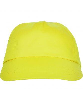 Casquette 5 panneaux BASICA jaune
