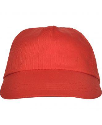 Casquette 5 panneaux BASICA rouge