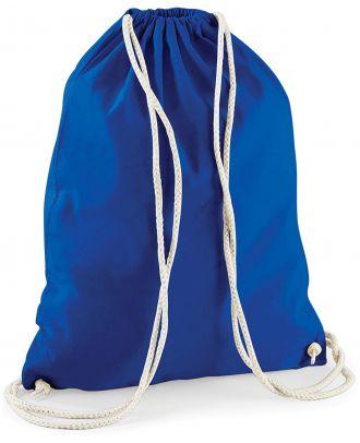 Gymsac en coton W110 - Bright Royal Blue - 37 x 46 cm