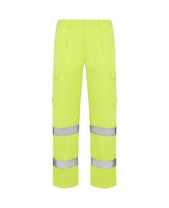 Pantalon haute visibilité ALFA JAUNE FLUO