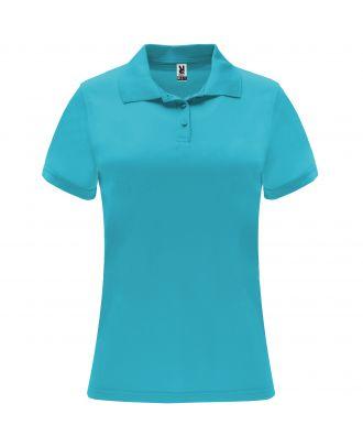 Polo manches courtes MONZHA WOMAN turquoise