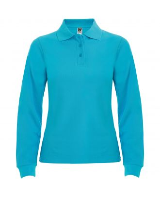 Polo femme manches longues ESTRELLA WOMAN L/S turquoise