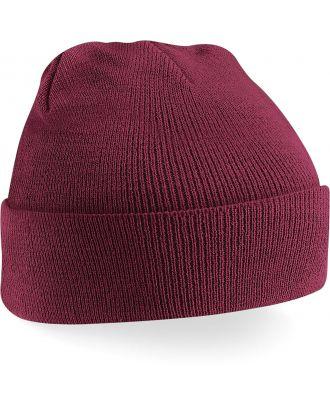 Bonnet original à revers B45 - Burgundy-One Size