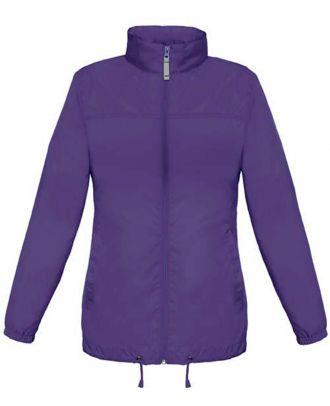 Coupe vent femme sirocco JW902 - Purple de face