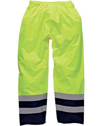 Surpantalon Bicolore Haute Visibilité SA1003 - Yellow / Navy