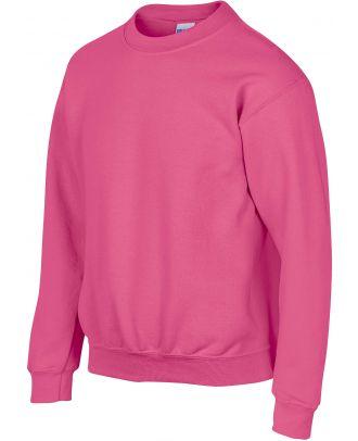 Sweat-shirt enfant col rond heavy blend 18000B - Safety Pink