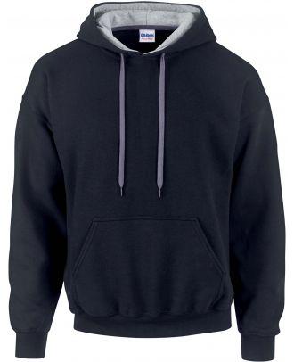 Sweat-shirt homme à capuche zippé 185C00 - Black / Sport grey