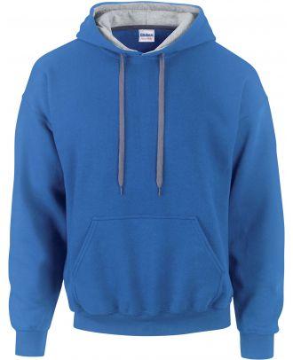 Sweat-shirt homme à capuche zippé 185C00 - Royal Blue / Sport grey