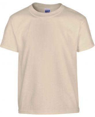 T-shirt enfant manches courtes heavy 5000B - Sand