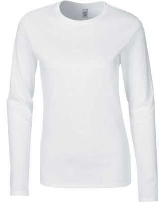 T-shirt femme manches longues Softstyle GI64400L - White