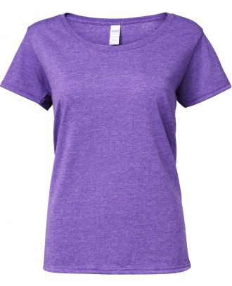 T-shirt femme Softstyle® Deep Scoop 64550L - Heather Purple