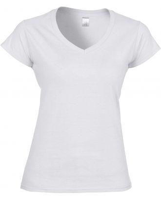 T-shirt femme col V Softstyle GI64V00L - White