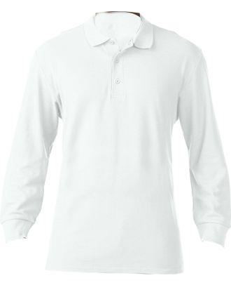 Polo homme manches longues prémium 85900 - White