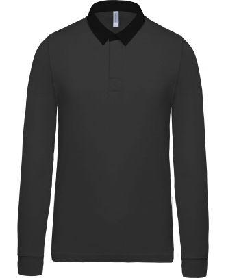 Polo rugby K213 - Dark Grey / Black