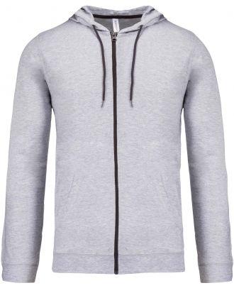 Veste coton légère à capuche K438 - Oxford Grey