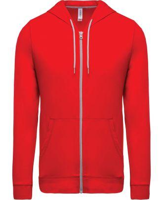 Veste coton légère à capuche K438 - Red