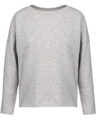 Sweat-shirt femme Loose K471 - Light grey heather