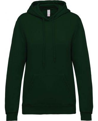 Sweat-shirt femme à capuche K473 - Forest Green