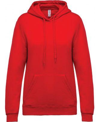 Sweat-shirt femme à capuche K473 - Red