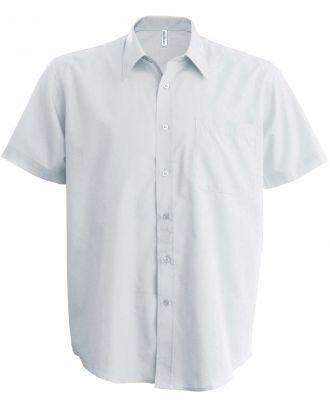 Chemise manches courtes enfant popeline K521 - White