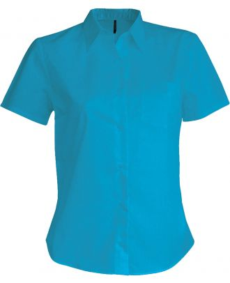 Chemise manches courtes femme Judith K548 - Bright Turquoise