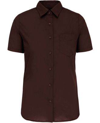 Chemise manches courtes femme Judith K548 - Brown
