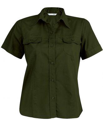 Chemise manches courtes femme popeline Tropical Lady K572 - Khaki