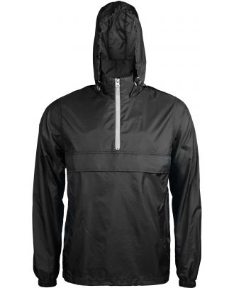 Coupe vent 1/4 zip K602 - Black / White