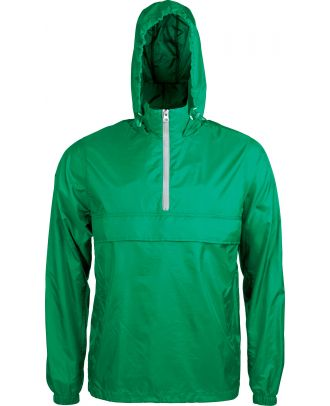 Coupe vent 1/4 zip K602 - Kelly Green / White
