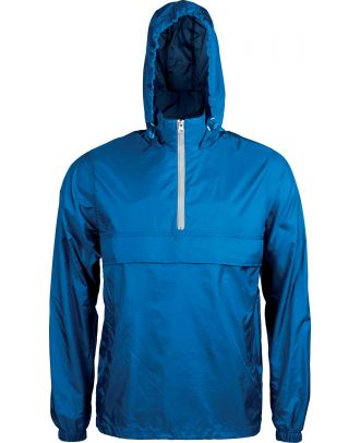 Coupe vent 1/4 zip K602 - Light Royal Blue / White