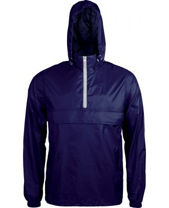 Coupe vent 1/4 zip K602 - Navy / White
