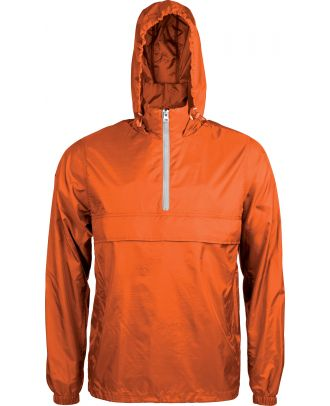 Coupe vent 1/4 zip K602 - Orange / White