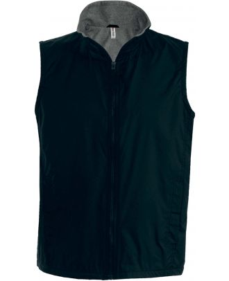 Bodywarmer doublé polaire Record K679 - Black / Grey