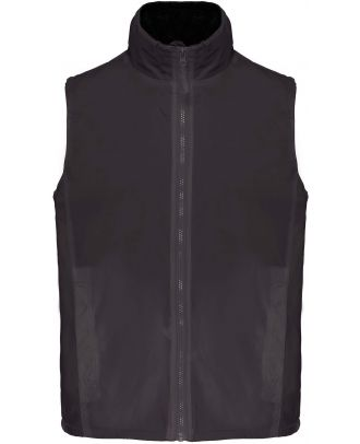 Bodywarmer doublé polaire Record K679 - Dark Grey / Black