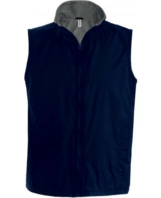 Bodywarmer doublé polaire Record K679 - Navy / Grey