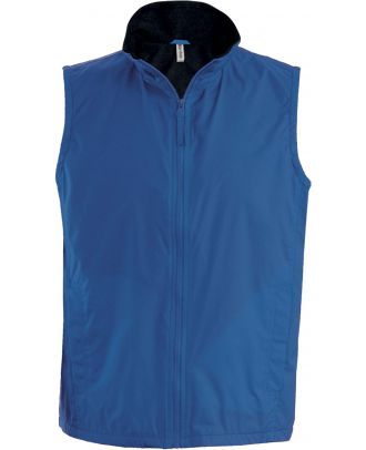 Bodywarmer doublé polaire Record K679 - Royal Blue / Black