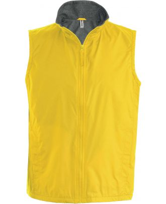 Bodywarmer doublé polaire Record K679 - Yellow / Grey