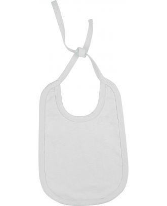 Bavoir bébé coton K832 - White