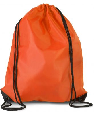 Sac à dos avec cordelettes KI0104 - Spicy Orange - 44 x 34 cm