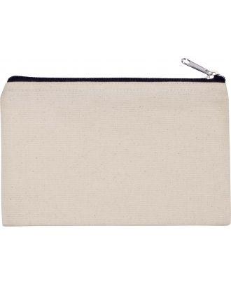 Pochette en coton canvas personnalisable KI0720 - Natural / Black