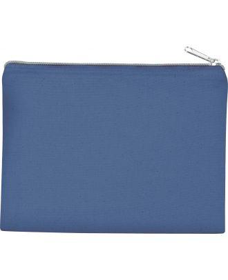 Pochette en coton canvas personnalisable KI0721 - Dusty Blue / Silver